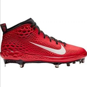 Nike Force Zoom Trout 5 Baseball Cleats Red Metal